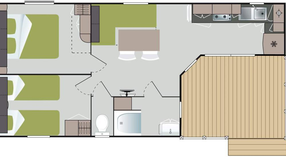 Plan Mobil-home Confort Luxe